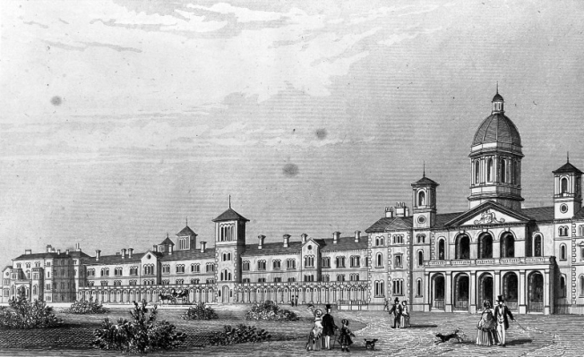 L0011787 Colney Hatch Lunatic Asylum, Southgate, Middlesex: panoramic
